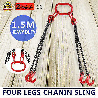 5' Chain Sling with quad Legs 5ton Capacity Low Elongation Lifting Hand Chain
