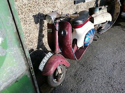 Pair Of Triumph T10 Scooter 1967 & 1968 One Red One Blue/white Complete On Dvla