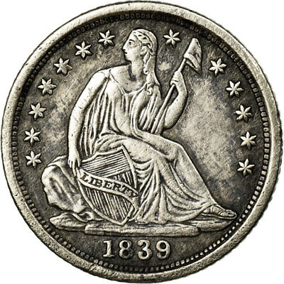 [#495114] Coin, United States, Seated Liberty Half Dime, 1839, New Orleans