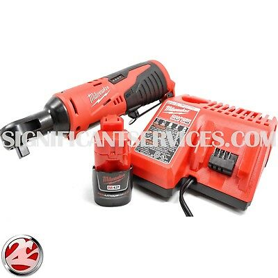 3f21a769846 Ratchet Battery Kit · Like us on Facebook · New Milwaukee 2457-21 M12  12-Volt 2.0 AH Cordless 3 8 in