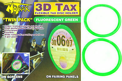 Tax Disc Holder Ideal For Vintage Motorcycle,moped Or Scooter 3D Flexible Green