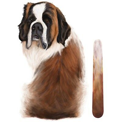 St Bernard Dog Rear Car Window Sticker With Wagging Tail To Fit On Wiper Arm