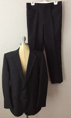 Vintage Grand Entry Western 2 Piece Suit Charcoal Dark Grey Cowboy Rodeo Size 42