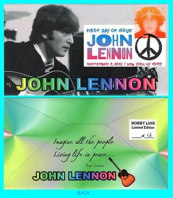 John Lennon First Day Cover with Color Cancel Type 4