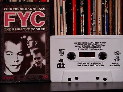 Fine Young Cannibals (FYC) ♫ The Raw & The Cooked ♫ 1988 Original Cassette Tape