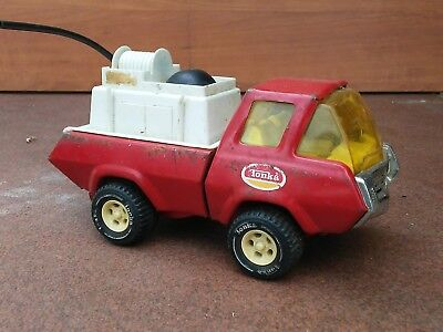 Vintage Pressed Steel Tonka Fire Truck Water Pumper Red 1970's