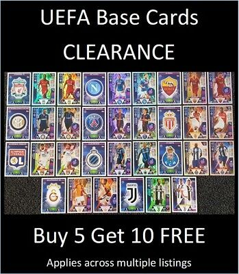 Match Attax 2018/19 UEFA Base Cards (#199-396) Buy 5 Get 10 FREE