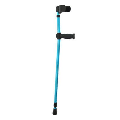Aluminum Alloy Folding Walking Forearm Crutches Stick for Adults Youth Blue