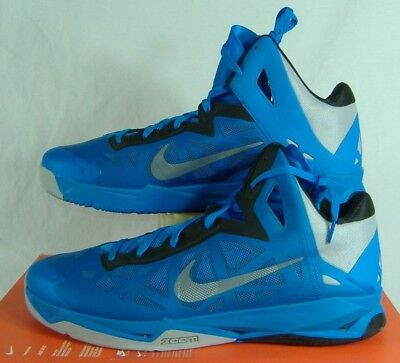 free shipping f49c0 ab46d New Mens 18 NIKE Zoom HyperChaos Blue High Hi Top Shoes  100 536841-400