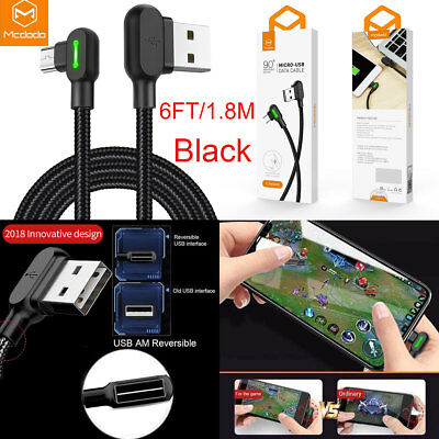Mcdodo Micro USB Bolt Smart Braided Fast Charging Cable Charger F Samsung S7-6ft