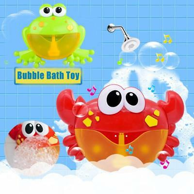 Crab Frog Bubble Machine Musical Bubble Maker Bath Baby Toy Bath Shower For Fun