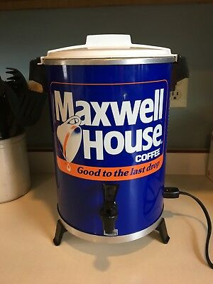 Vintage Maxwell House 30 Cup Coffee Pot Maker Percolator West Bend            o3