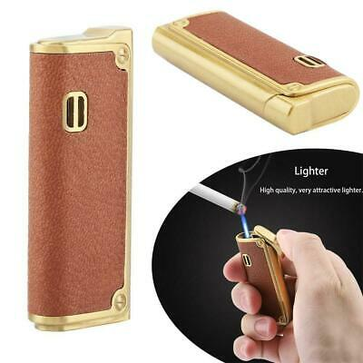 Refillable Butane Gas Lighter Inflatable Torch Fuel Jet Flame Windproof NO Fuel