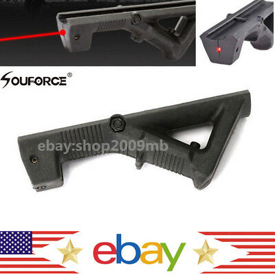 US Red Dot Laser Angled Foregrip Front Grip Sight For Picatinny Weaver Rail Hunt