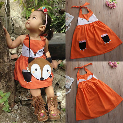 Toddler Kids Baby Girls Summer Dress Sleeveless Princess Party Pageant Dresses