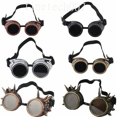 Cyber Goggles Steampunk Glasses Vintage Retro Welding Punk Gothic Victorian LM
