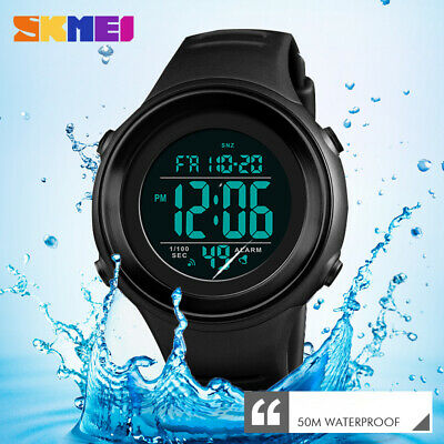 SKMEI Men Military Sports Watch Luxury LED Digital Water resistant Mens Watches