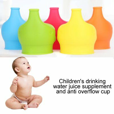 Elephant Silicone Sippy Cup Lid Spill-Proof Cup Cover Babies Drinking Tool SU