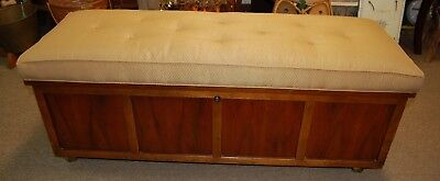 Lane Upholstered Padded Top Cedar Chest w/Casters From an Estate Hope