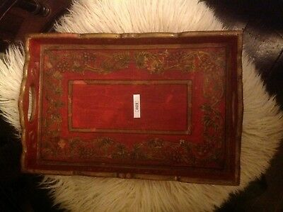 Vintage Wooden Tray (4428)