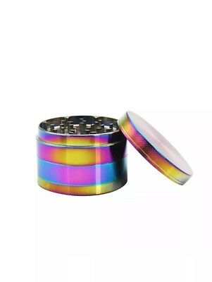 Concave Rainbow Lid 50mm 4 Grinder Heavy Duty Large Part Heavy Duty Pollinator