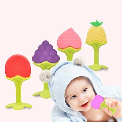 Creative Fruit Baby Teether Teeth Nursing Toy BPA Free Soft Silicone Teether WM