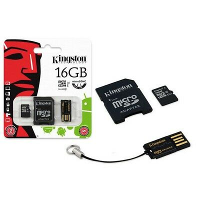 Kingston Mikro sd SDHC Memory Card 16GB Klasse 10 UHS-I mit Adapter und Leser