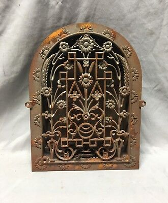 Antique Cast Iron Arch Dome Top Register Heat Grate 9X12 Arched Old Vtg 1-19D