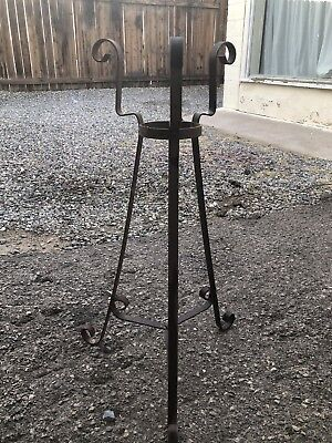 vintage wrought iron plant stand