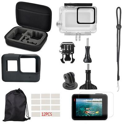 22pcs Waterproof Case Screen Protector Cover Kit for Gopro Hero 7 White Silver