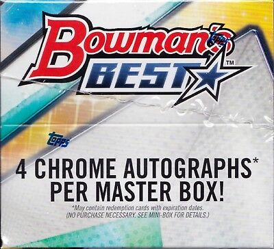 2018 Bowman's Best Baseball sealed hobby master box 12 packs 5 MLB cards 4 auto