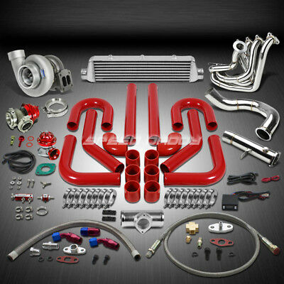 GT45 1.05AR 800HP + 12PC Turbo Caricabatterie+Collettore+Intercooler Kit per