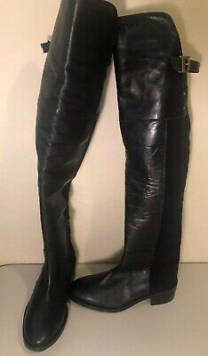 47228be69d6 NEW TOPSHOP NORDSTROM Black Leather Tall Riding Boots Womens 37, 6.5 $270