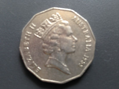 1985 50 cent coin
