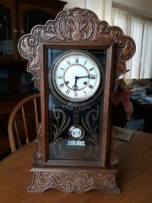 Vtg Burwood Products New Haven Regulator Wall/Mantle Clock W/German Movement