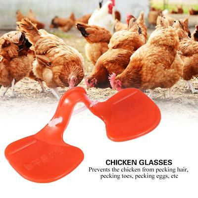 100 Chicken Peepers Eye Glasses Spectacles Pheasant Poultry Hen Peck Prevention