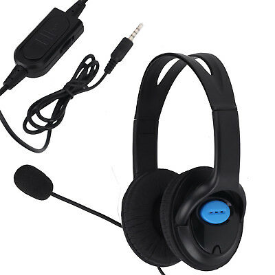 Deluxe Headset Headphone With Microphone Mic Volume Control For  Sony PS4 and PC
