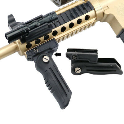 Folding Foregrip Hand Vertical Fore Grip Picatinny Weaver Rail 20mm For Rifle A