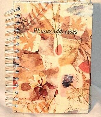 Floral Design Spiral Hardcover A – Z Tabs Phone Address Book
