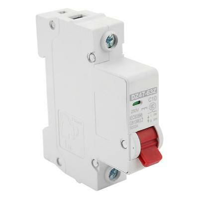 10/16/20/32/40/63A DC Miniature Circuit Breaker 1P 1 Pole 250V for Solar Energy
