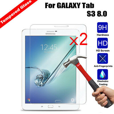 2x For Samsung Galaxy Tab A E S4 S3 S2 S J Tempered Glass Screen Protector Cover