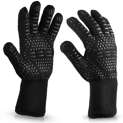 1PC BBQ Grilling Cooking Gloves 932F Extreme Heat Resistant BBQ Grill Gloves