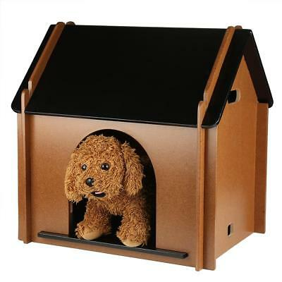 Small Dog House Pet Outdoor Bed Wood Home Kennel Indoor Shelter Smooth Wooden