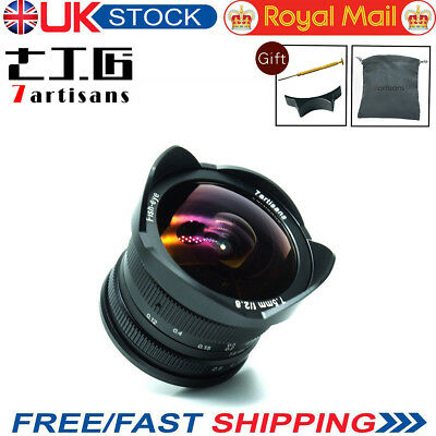UK 7artisans 7.5mm F2.8 Fisheye Lens Manual Fixed Lens For Olympus Panasonic M43
