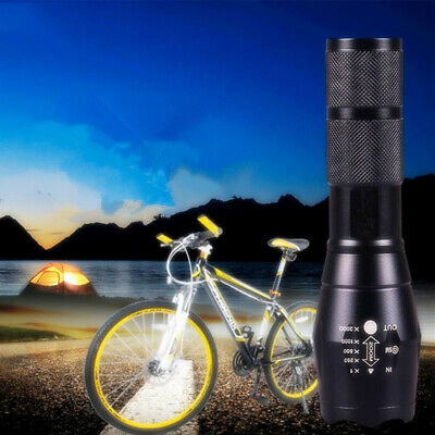 50000LM T6 Tactical Military LED Flashlight Torch 18650 Zoomable 5Modes Light