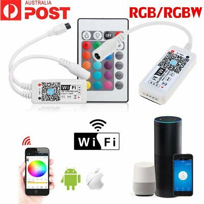 RGW RGBW Wifi Wireless Controller for LED Strip Lights IOS Android Google Home