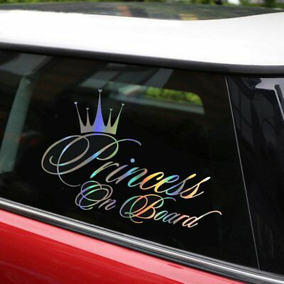 Princess Baby On Board 16.5*10.9CM Car Sticker Car Decal Reflective Laser Vinyl