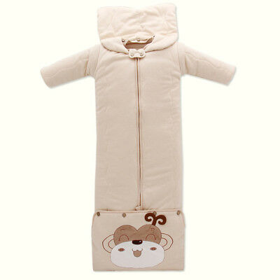 Baby Sleeping Bag Thick Cotton Blanket for 6-36 months Boy Girl Safety Sleeping