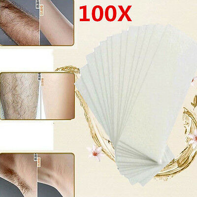 ... 100pcs Depilatory Wax Strips Non woven Hair Removal Paper Epilator Waxing Tools