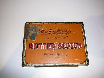 MacRoberton's Tin Old Style Butter Scotch Vintage Confectionery Advertising